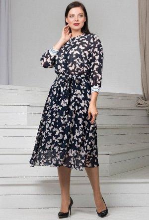 Платье Amelia Lux 80120 бабочки