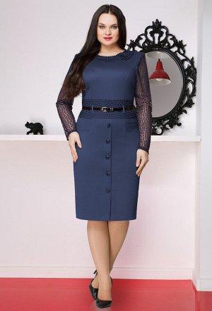 Платье Lenata 11251 синий