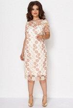 Платье Anastasia Mak 735 пудра