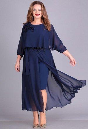 Платье Anastasia Mak 673 темно-синий