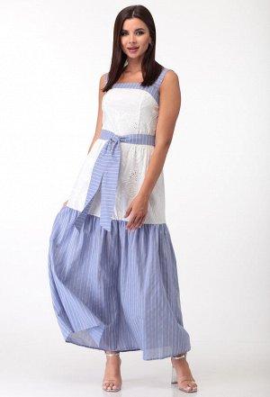 Платье Anastasia Mak 709 голубой-белый