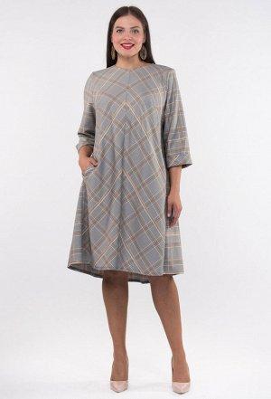 Платье Amelia Lux 3288 серый