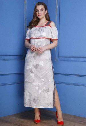 Платье Anastasia 291 черно-белый