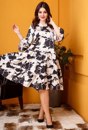 Платье Anastasia 399 черно-белый