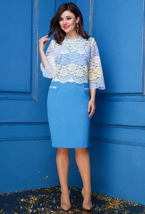 Платье Anastasia 247 голубой