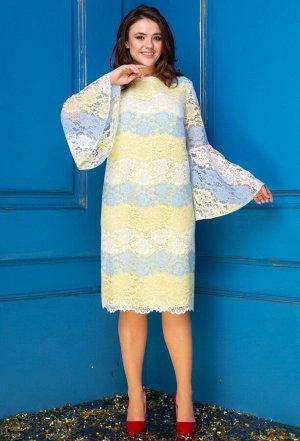 Платье Anastasia 249 желтый