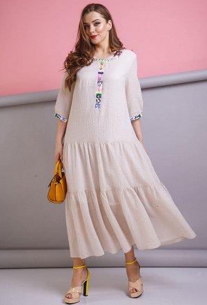 Платье Anastasia 179 бежевый