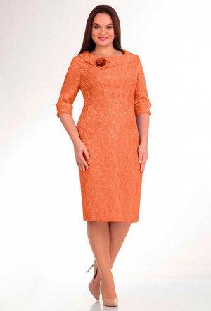 Платье Lady Line 263 оранжевый