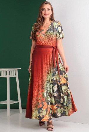 Платье Anastasia Mak 510 терракот лилии