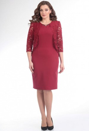 Платье-двойка Anastasia Mak 464 бордо