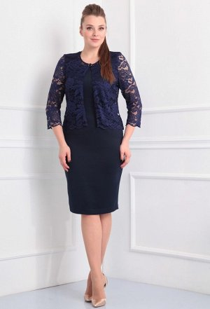 Платье-двойка Anastasia Mak 166 синий