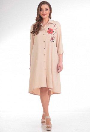 Платье Anastasia Mak 485 бежевый