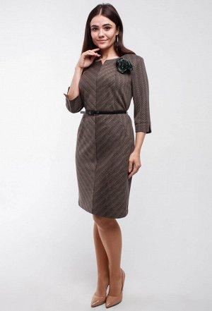 Платье Amelia Lux 3250 бежевый