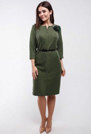 Платье Amelia Lux 3250 зеленый