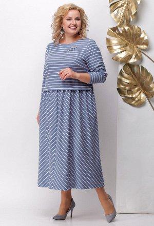Платье Michel Chic 949 голубой полоска