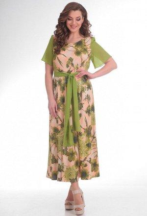 Платье Anastasia Mak 500 зелен-бежев