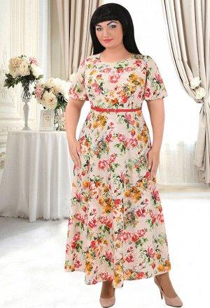 Платье Anastasia Mak 491 бежевый