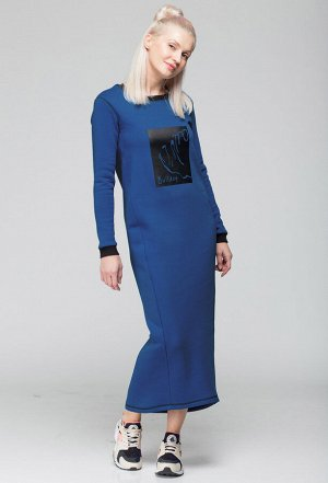 Платье HIT 4007 синий