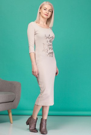 Платье HIT 4004 бежевый