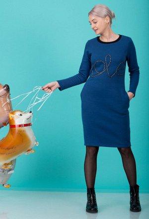 Платье HIT 4008 синий