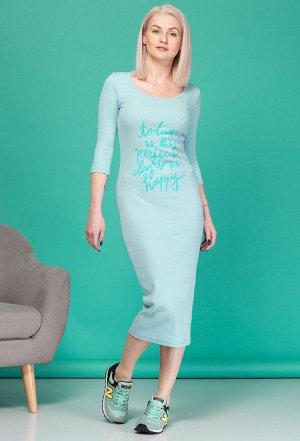 Платье HIT 4004 голубой