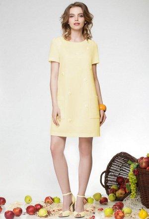 Платье Lenata 11658 желтый