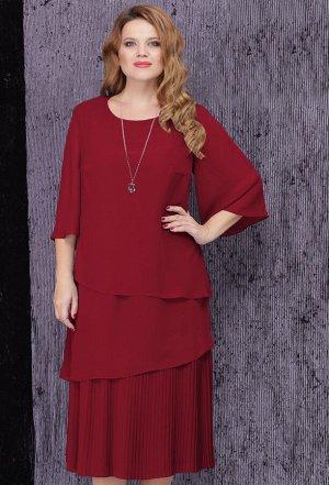 Платье Lenata 11834 бордо