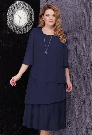 Платье Lenata 11834 синий