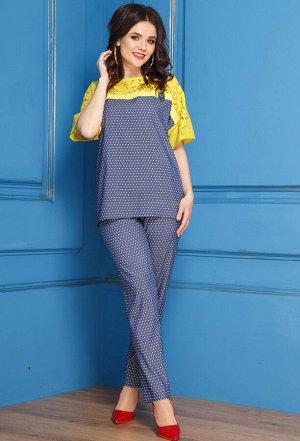 Комплект Anastasia 277 сине-желтый