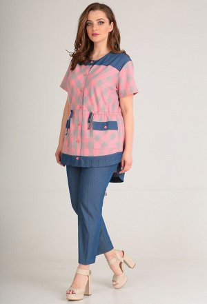 Комплект Anastasia Mak 618 розово-синий