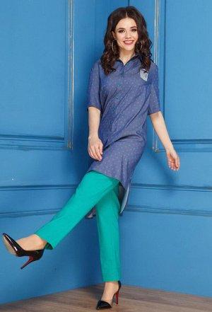 Комплект Anastasia 276 синий-зеленый