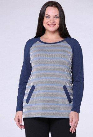 Блуза Michel Chic 725 синий