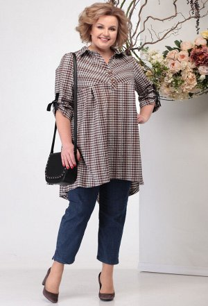 Блуза Michel Chic 742 бежево-коричневый