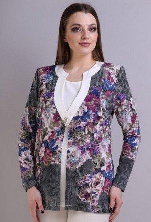 Блуза Anastasia Mak 430 синий цветы