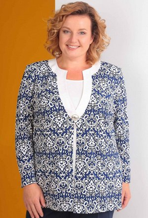 Блуза Anastasia Mak 430 синий узоры