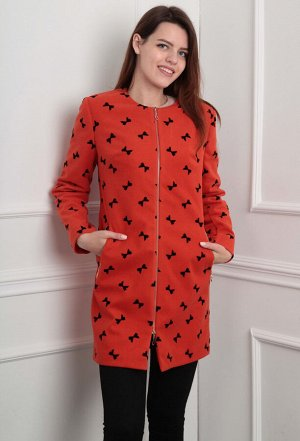 Пальто Lady Line 404 красный