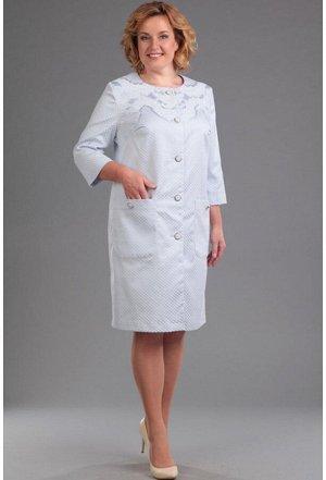 Пальто Anastasia Mak 361 голубой