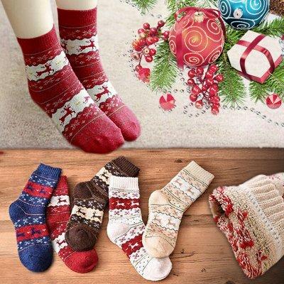 🧦🧦🧦 Носкофф - Любимые Носочки Для Всей Семьи!!! — Тепленькие носочки с новогодним принтом 🎄🦌 — Носки