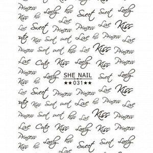 Наклейки She Nail №031-черная