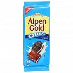 Alpen gold Плитка с Oreo, молочный шоколад