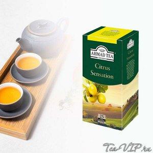 "Чай Ахмад ""Цитрус Сенсейшн"" с аром. Лимона и лайма 25пак 1/12"