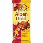Alpen gold Плитка с крекером и соленым арахисом