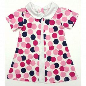 Платье 7066/9 (горошек, разноцветный)