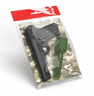 Оружие пластиковое Пистолет. Граната