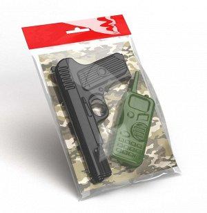 Оружие пластиковое Пистолет. Рация