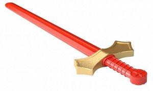 Оружие пластиковое Меч (красный с золотой гардой)