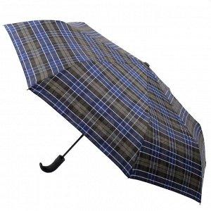 Зонт Flioraj017003 FJ HUNTER муж 3сл авт син клетка п/э ручка