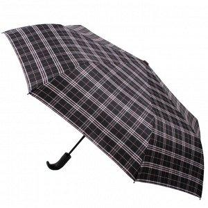 Зонт Flioraj017002 FJ HUNTER муж 3сл авт сер клетка п/э ручка