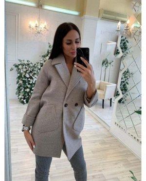 Пальто Материал кашемир, укороченный вариант оверсайзного пальто пиджачного кроя, стильная вещь для городских леди