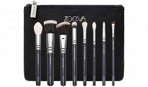 Набор кистей zoeva 8 шт (черный) 105 / LUXE HIGHLIGHT натуральная синтетическая | Инструменты и аксессуары для макияжа